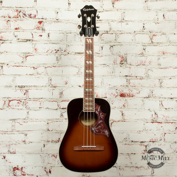 Epiphone Hummingbird Acoustic/Electric Ukulele Outfit (Tenor) Tobacco Sunburst x5603