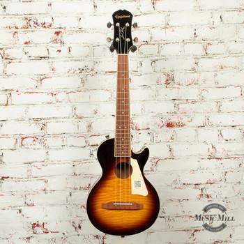 Epiphone Les Paul Acoustic/Electric Ukulele Outfit (Tenor) Vintage Sunburst x2642