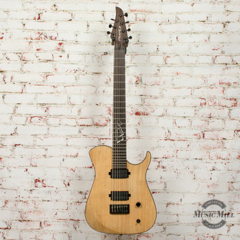 Frame 7 String Singlecut Electric Guitar with Fishman Fluence Humbuckers Natural x7560