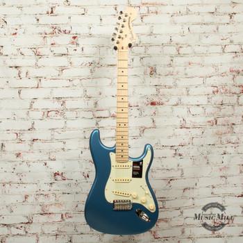 Fender American Performer Stratocaster® Electric Guitar, Maple Fingerboard, Satin Lake Placid Blue x9435