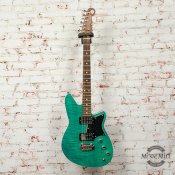 Reverend Kingbolt RA  Electric Guitar Turquoise Flame Maple (USED) x0835