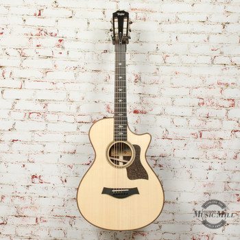 Taylor 712ce V-Class 12 Fret Acoustic/Electric Guitar Natural x0062