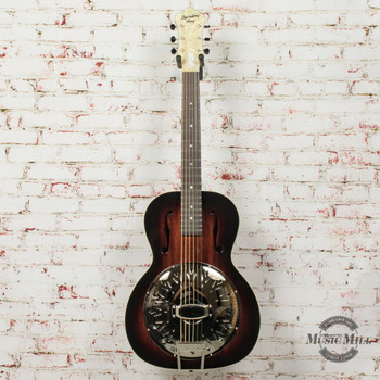 Recording King Biscuit Cone Small Body Resonator Acoustic Guitar Vintage Sunburst (USED) x7386