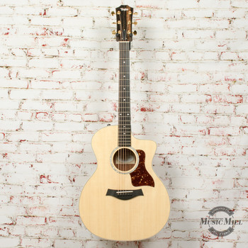 Taylor 214ce-BL Acoustic/Electric Guitar Limited Edition Black Limba/Spruce Natural x0199