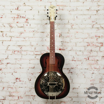 Recording King Biscuit Cone Small Body Resonator Acoustic Guitar x7410