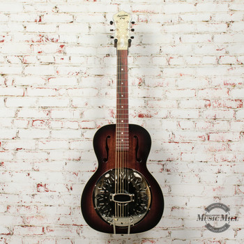 Recording King Biscuit Cone Small Body Resonator Acoustic Guitar x7401