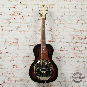 Recording King Biscuit Cone Small Body Resonator Acoustic Guitar (USED) x7403
