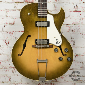 Epiphone Vintage 1960-61 Sorrento Hollowbody Electric Guitar with Two PAF Mini Humbuckers Sunburst (USED) x4394