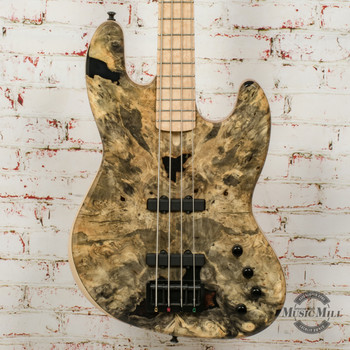 MG Bass JB1 Natural Buckeye Burl 4 w/Bag