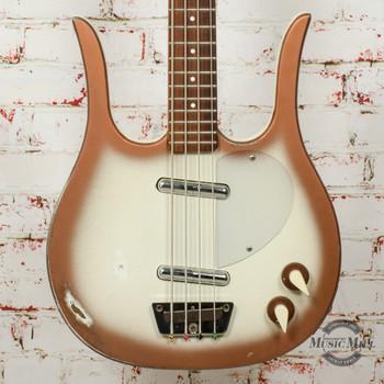 Vintage 1959 Danelectro Longhorn 4-String Short-Scale Bass Copperburst (USED) x7531