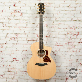 Taylor 214ce-BL Limited Edition Acoustic/Electric Guitar Black Limba/Spruce Natural x0348