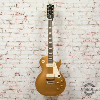 Gibson Les Paul Standard '50s P90 Gold Top Electric Guitar Gold x0370
