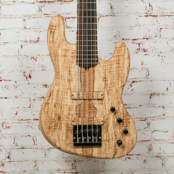 MG Bass JB-1 Rustic Spalted 5-String Bass Natural x7726