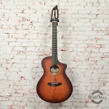 Breedlove Discovery Concert Acoustic Electric Guitar Satin Bourbon Nylon CE Eng-Mah x3332