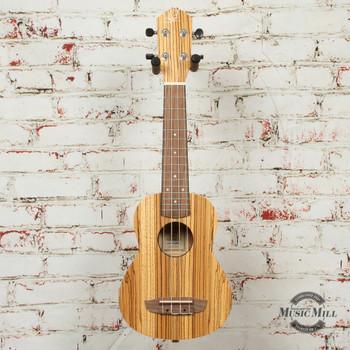 Ortega RFU10Z Soprano Ukulele Zebrawood Natural x0556