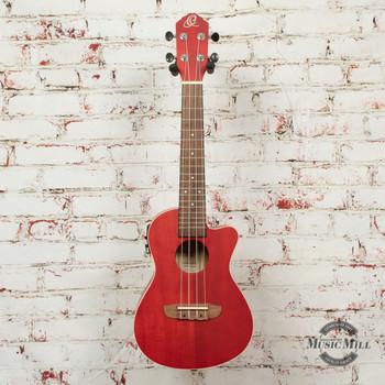 Ortega RUFIRE-CE E All Okoume Acoustic/Electric Concert Ukulele Red Satin x3BWN (USED)