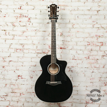Taylor 214CE Deluxe Acoustic/Electric Guitar Black x0247