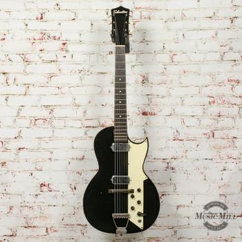 Vintage Silvertone 1412 L2 Value Leader Electric Guitar Black (USED) x7543