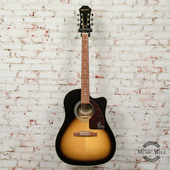 Epiphone AJ-210CE Outfit (Incl. Hard Case) Acoustic Electric Guitar Vintage Sunburst x4091