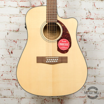 Fender CD-140SCE 12-String Acoustic/Electric Guitar Natural x3936