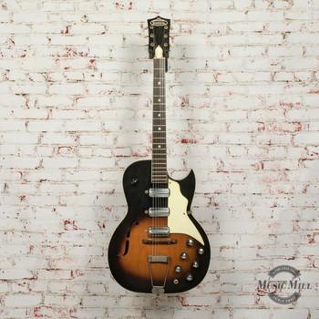 1961-65 Kay Speed Demon Hollow Body Electric Guitar Sunburst x7536 (USED)