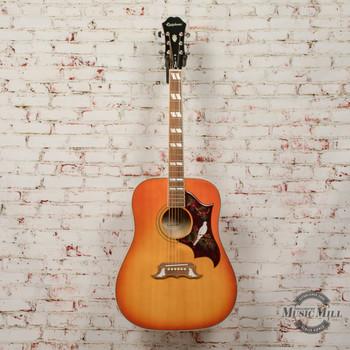 Epiphone Dove Pro Acoustic/Electric Guitar Violinburst (USED) x6303