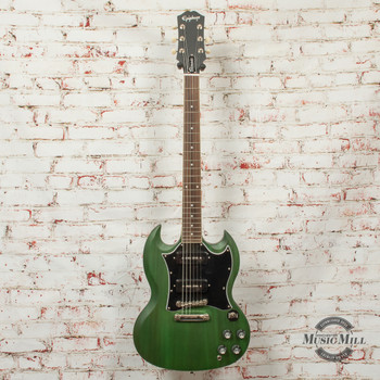 Epiphone SG Classic Worn P-90s Electric Guitar Worn Iverness Green x1354