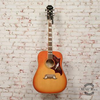 Epiphone Dove Pro Acoustic/Electric Guitar Violinburst (USED) x5191