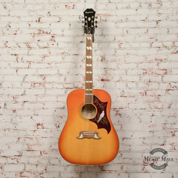 Epiphone Dove Pro Acoustic/Electric Guitar Violinburst (USED) x5175
