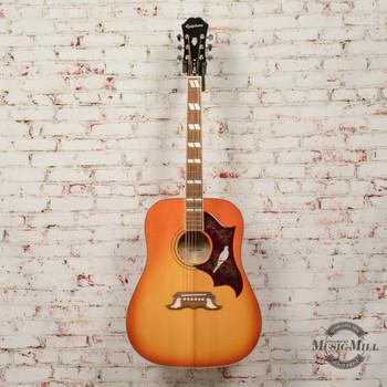 Epiphone Dove Pro Acoustic/Electric Guitar Violinburst x3035