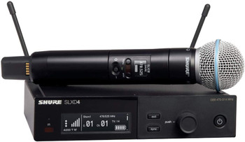 Shure SLXD24/B58 Wireless Microphone System w/BETA58A Handheld Mic
