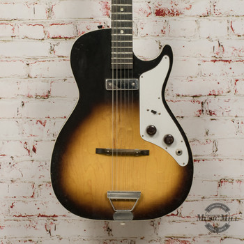 Vintage Silvertone 1326 Stratotone Electric Guitar Sunburst x7542 (USED)