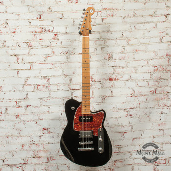 Reverend Double Agent OG Electric Guitar Midnight Black x1589