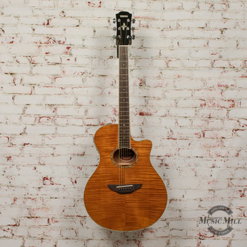 Yamaha APX600FM-AM Acoustic/Electric Guitar Flamed Maple Natural x7303
