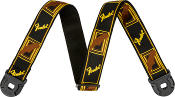 Fender Quick Grip Locking End Strap, Black, Yellow and Brown, 2""