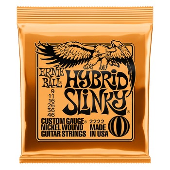 Ernie Ball 2222 Hybrid Slinky Nickel Wound Electric Guitar Strings - .009-.046