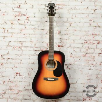 Johnson JG-555-SN Dreadnought Acoustic Guitar Sunburst (USED) x7112