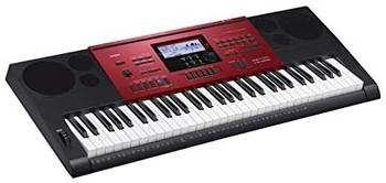 Casio CTK-6250 61-Key Piano Style Portable Keyboard with Touch Sensitivity, Red