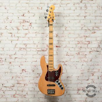 Fender American Ultra Jazz Bass® V, Maple Fingerboard, Aged Natural