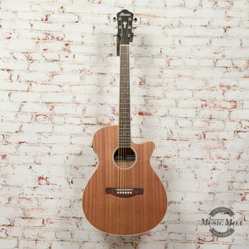 Ibanez AEG7MHOPN AEG Single Cutaway 6-String RH Acoustic Electric Guitar-Open Pore Natural x7464