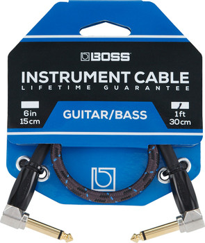 BOSS BIC-1AA 1ft Angled Instrument Cable