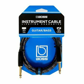BOSS BIC-5 5ft Instrument Cable, Black