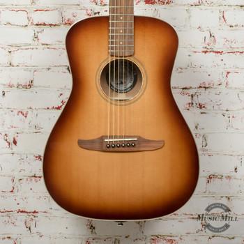 Fender Malibu Classic Acoustic Electric Guitar, Pau Ferro Fingerboard, Aged Cognac Burst x6117