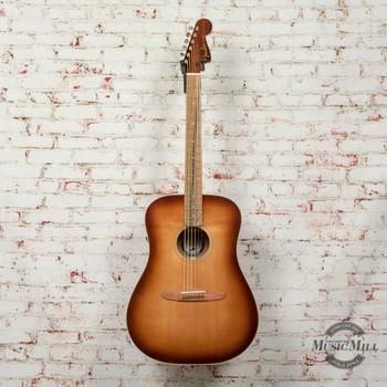 Fender Redondo Classic Acoustic Electric Guitar, Pau Ferro Fingerboard, Aged Cognac Burst DEMO - cc200103038