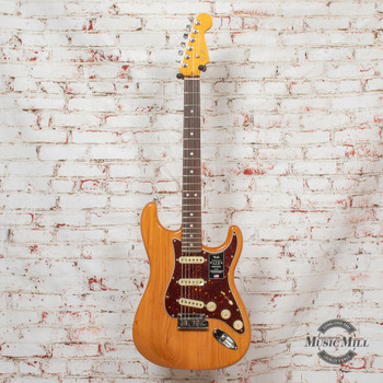 Fender American Ultra Stratocaster Electric Guitar Aged Natural x0229