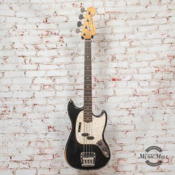 Fender JMJ Road Worn Mustang Bass Black x4780