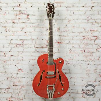 2017 Duesenberg USA Gran Royale Electric Guitar Vintage Orange x0092 (USED)