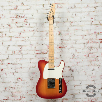 2009 Fender American Deluxe Telecaster® Electric Guitar, Maple Fingerboard, Aged Cherry Burst x1158 (USED)