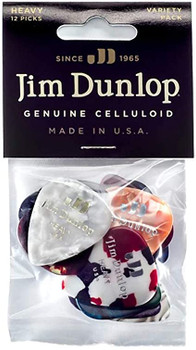 Dunlop Celluloid Heavy Pick Variety 12 Pack