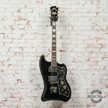 Guild S-200 T-Bird Electric Guitar Black (USED) x1138